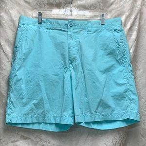 Columbia Pale Blue Shorts 36 waist 8 length EUC